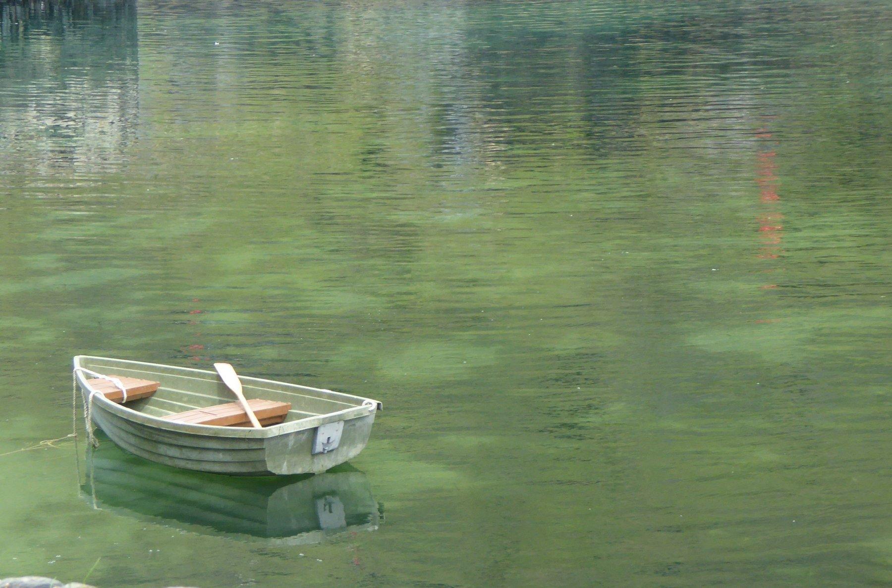 Boat in Boscastle harbour